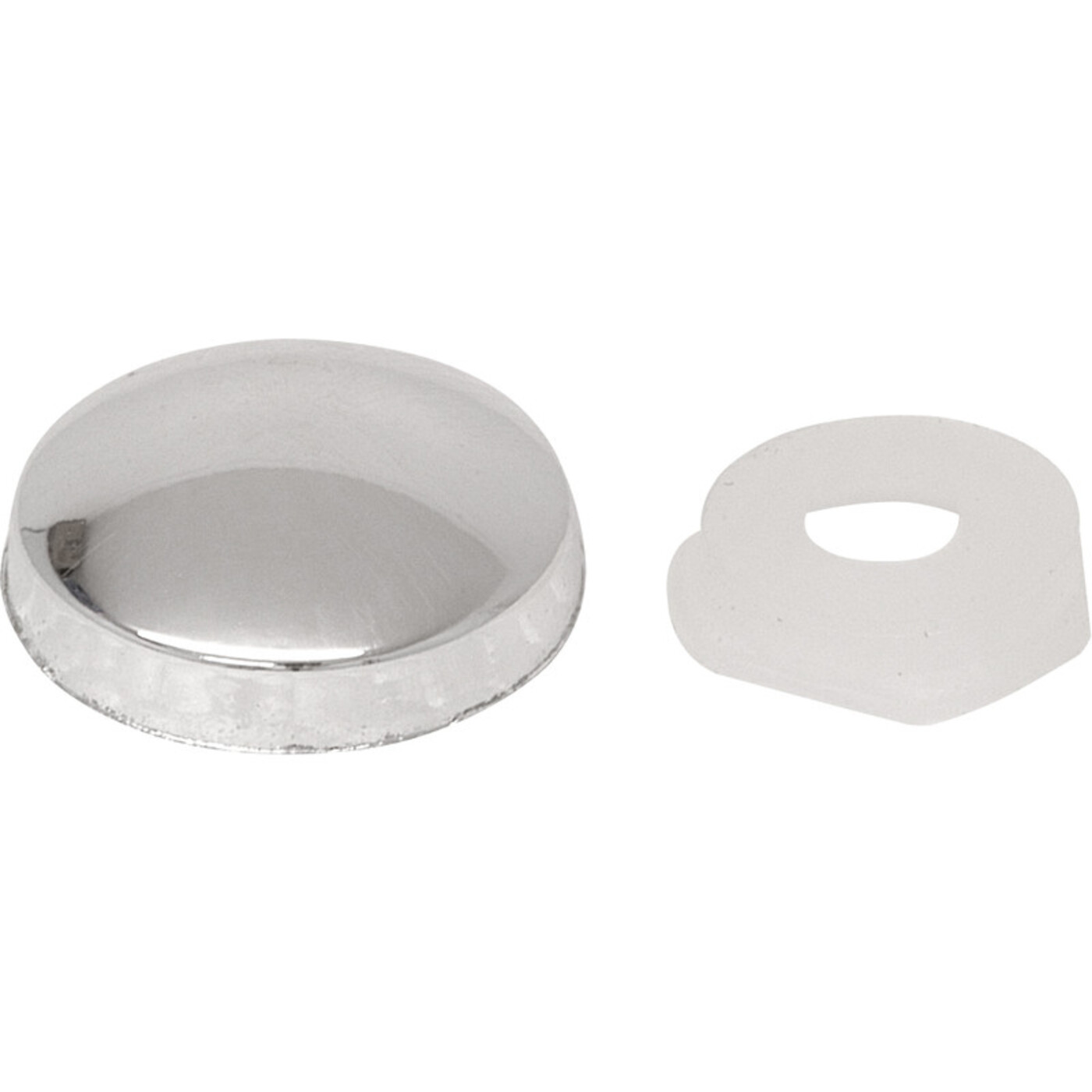 Domed screw cap covers silver
