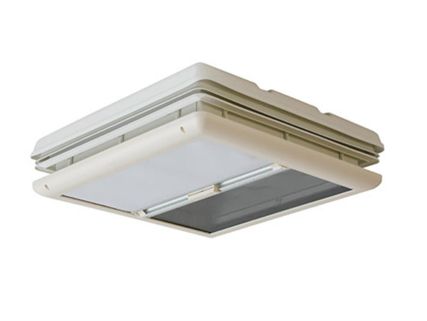 Fiamma 50 x 50 Vent White with Blind - Homestead Caravans