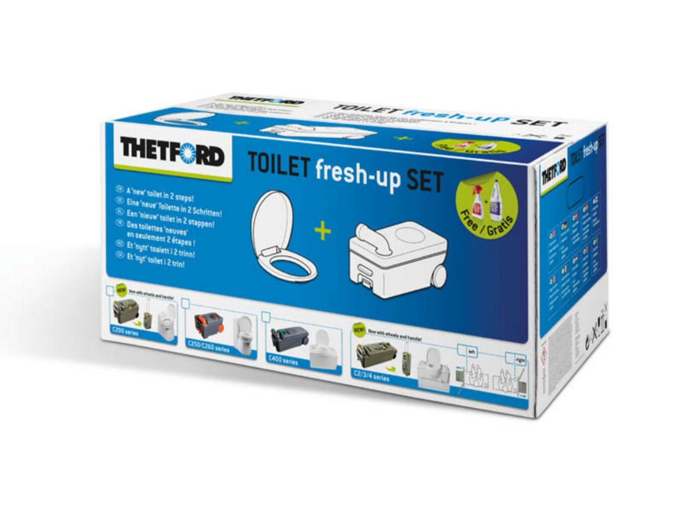 thetford c200 toilet fresh up set homestead caravans. Black Bedroom Furniture Sets. Home Design Ideas
