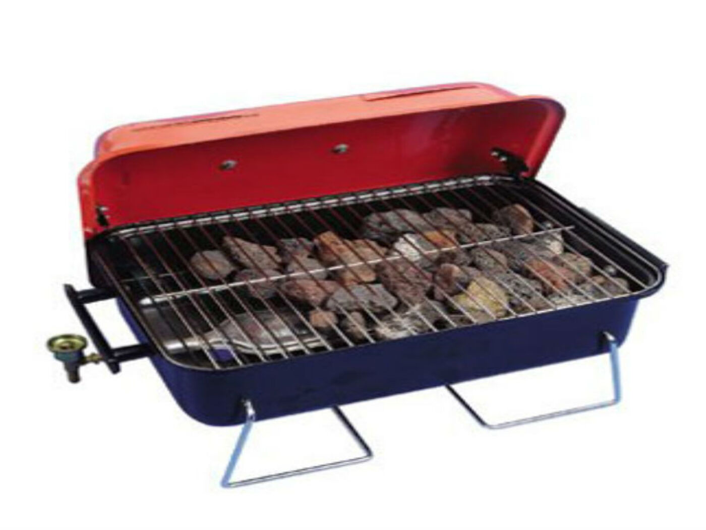 portable table top gas barbecue with lid. Black Bedroom Furniture Sets. Home Design Ideas