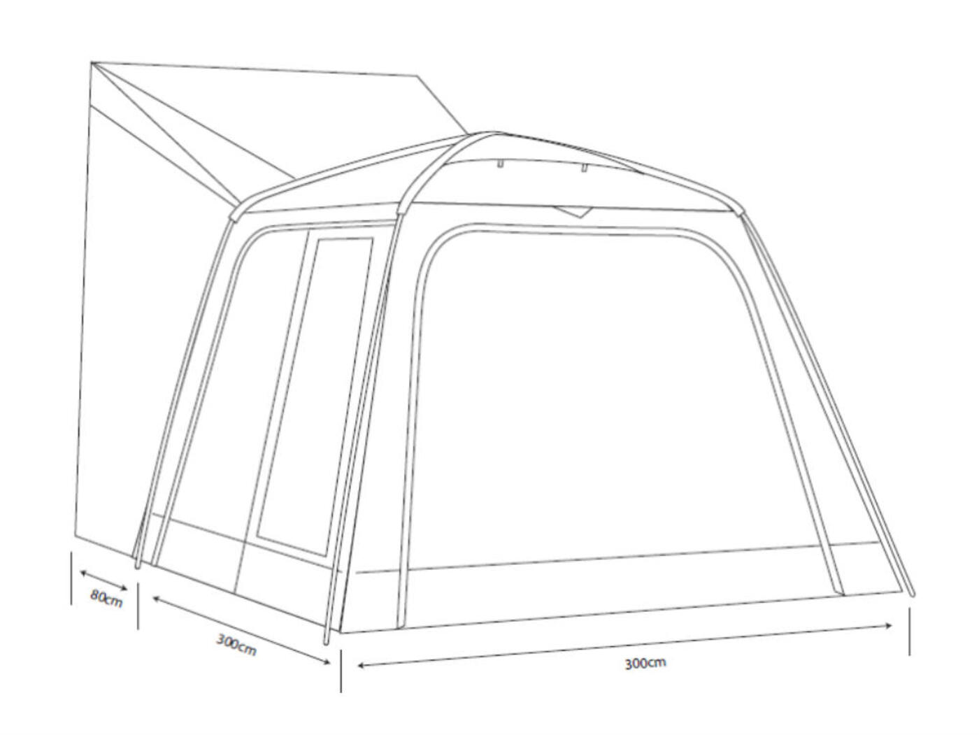 outdoor revolution movelite cayman xl driveaway awning