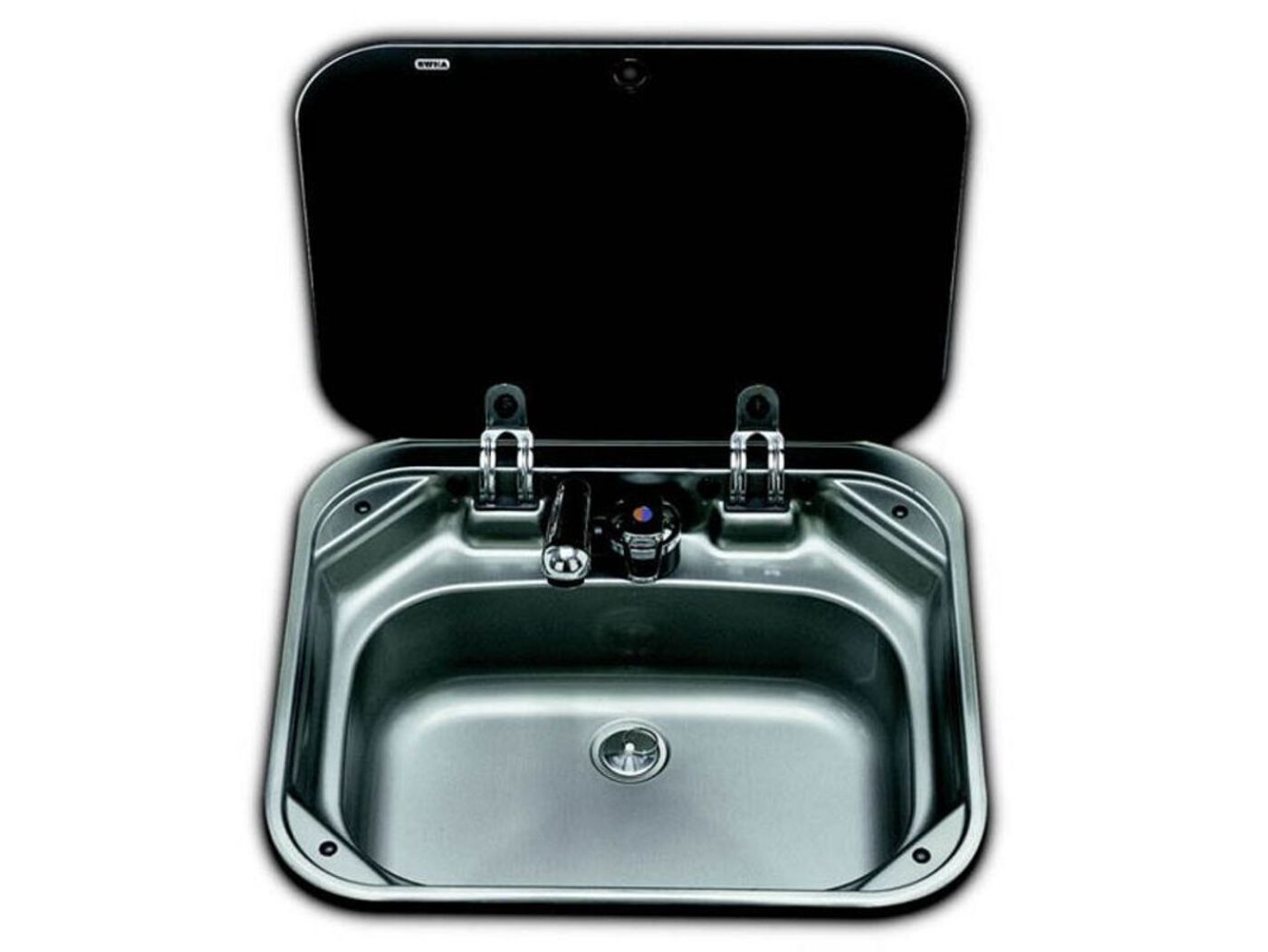 Smev 8005 sink with glass lid homestad caravans - Caravan kitchen sink ...