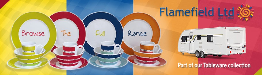 Flamefield Melamine ranges in various colours - click to browse our complete tableware range