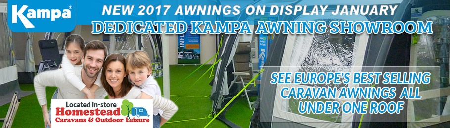 Dedicated Kampa Awning Showroom Now Open - image showing the new showroom - click to learn more
