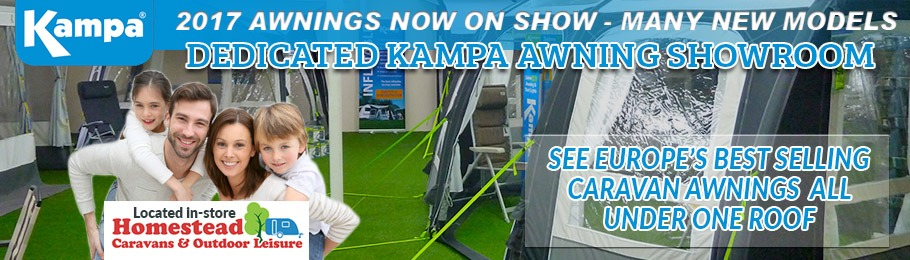 2017 Kampa Awnings Now On Display - Image of new dedicated Kampa Awning Showroom