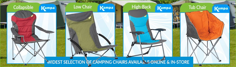 Fantastic range of camping chairs from Kampa - Image of several Kampa chairs