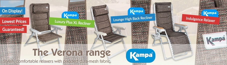 Kampa Verona luxury, affordable camping chairs - Image of the Kampa Verona range
