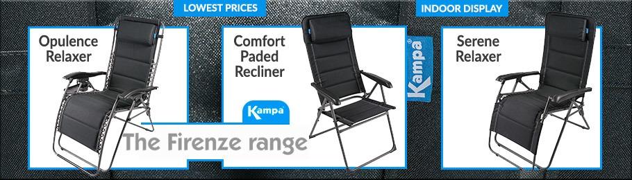 Kampa Firenze camping chair range - Image of Firenze chair range