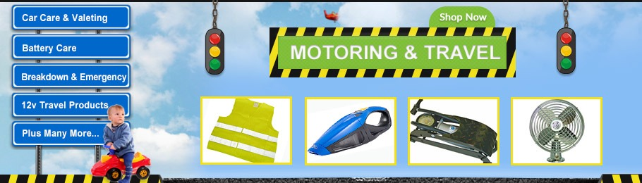 Shop now for Motoring & Travel leisure products - Image of a selection of Motoring & Travel products