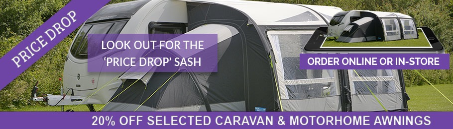 Shop now with 20% OFF Selected Caravan and Motorhome Awnings