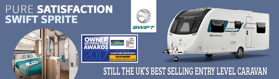 2018 Swift Sprite Caravan collection - the UK's leading entry range caravan with 10 models to choose from