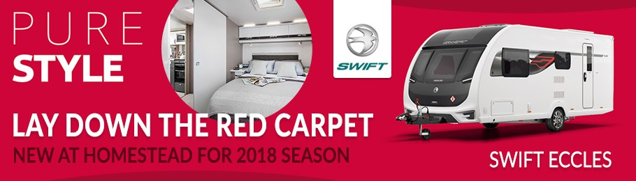 Brand new to Homestead Caravans for 2018 the Swift Eccles Caravan range