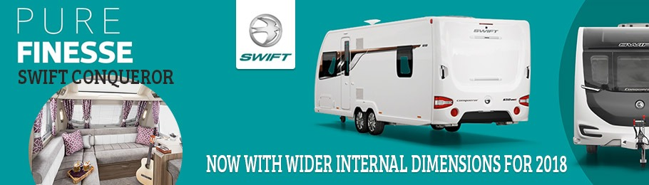 Swift Conqueror now even wider for 2018