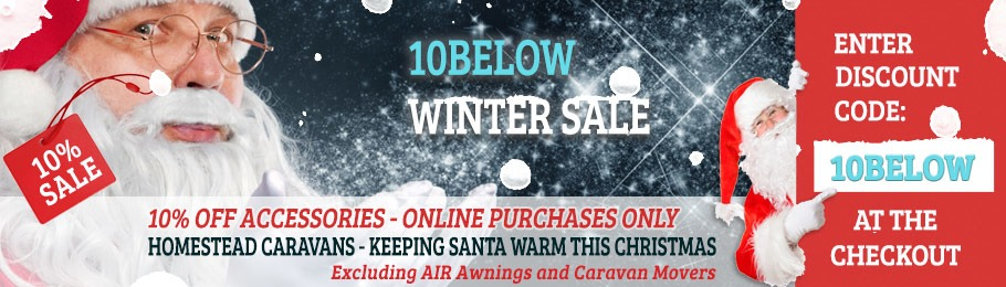 Enter '10BELOW' Voucher Code at the Checkout to save 10% - excludes all AIR Awnings and Carvan Movers