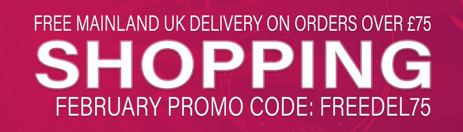 Free UK mainland delivery on orders over £75 for the month of February - Voucher Code: 'FREEDEL75'