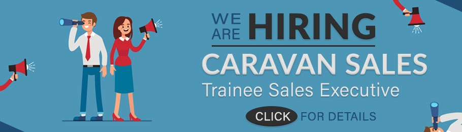 We are hiring - Trainee caravan sales executive
