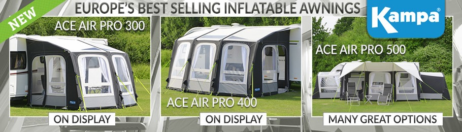 Kampa Ace AIR Pro Inflatable Awning range - Europe's best selling awning range!