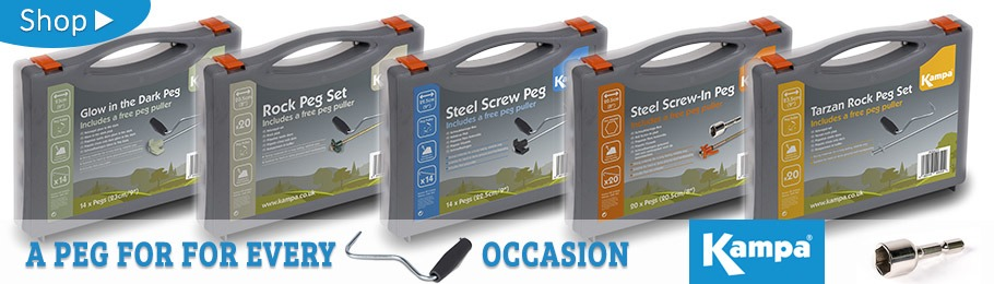 Kampa Camping Peg Box Sets - there's a box for every occasion