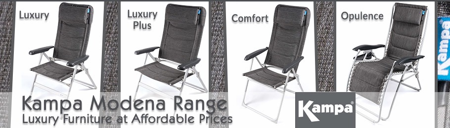 Kampa Modena Furniture Range - luxury chairs at affordable prices