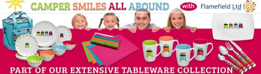 Camper Smiles Tableware Range
