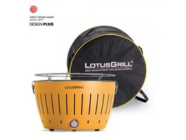 Lotus Grill Smokeless Charcoal Grill BBQ  Yellow
