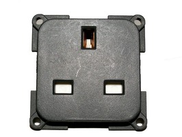 CBE 230v 3 pin 13A Mains Socket with Back Box - Grey