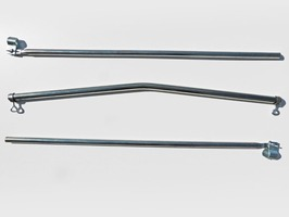 Umefa Bent Crossbeam Steel with 2 Pole clamps