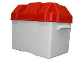 Plastic Battery Box Red