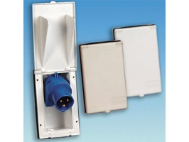 Rectangular Flush Fitting 230v Inlet