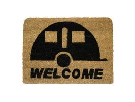 JVL Caravan Stencilled Welcome Coir Mat