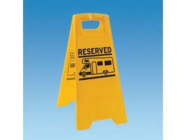 Reserved Sign Caution Board