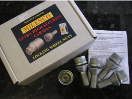 Milenco Locking Wheel Nuts - Motorhome Set of 4