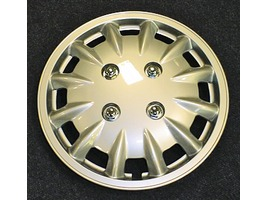 "Milenco set of 2 14"" Silver Wheel Trims"