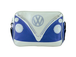 VW Campervan Bus Messenger Bag Blue