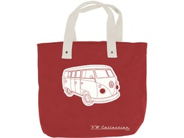 VW Campervan Canvas Shopping Bag Red