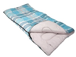 Lakeside Aqua Check 52oz Kingsize Sleeping Bag