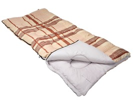 Lakeside Caramel Check 60oz Kingsize Sleeping Bag