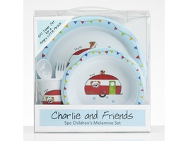 Flamefield Charlie & Friends Childrens Melamine Set