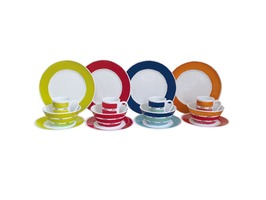 Flamefield Colourworks 16pce Melamine Tableware Set