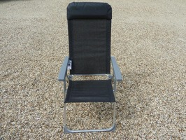 Leisurewize Carona Aluminium Reclining Chair - Anthracite