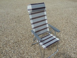 Leisurewize Carona  Aluminium Reclining Chair -  Striped