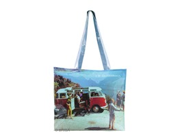 VW Campervan PVC Shopping  Bag Scenery