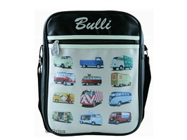 VW Campervan Portrait Messenger Shoulder Bag Parade