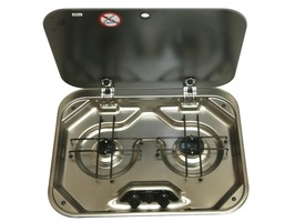 Smev PI 8022 2- Burner Gas Hob with Glass Lid
