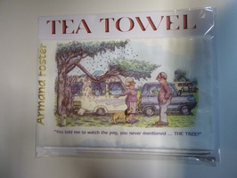 Caravanning Cartoon Tea Towel