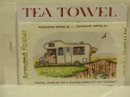 Motorhome Cartoon Tea Towel