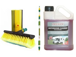 3 Metre Wash Brush & Fenwick's Motorhome Cleaner 1 Litre Package
