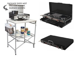 Major Field Kitchen & Foldaway Double Burner with Grill Package