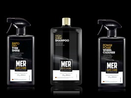 MER High Shine Shampoo, Power Foam Wheel Cleaner & Rapid Dry Tyre Shine