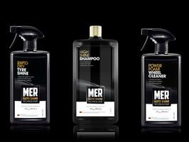 MER High Shine Shampoo, Power Foam Wheel Cleaner & Rapid Dry Tyre Shine